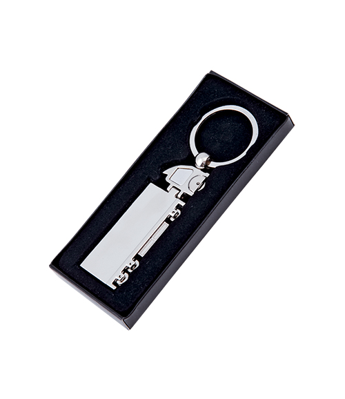 DOUBLES-SIDED METAL KEY CHAIN