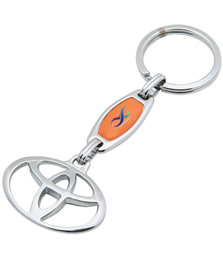 DOUBLES-SIDED METAL KEY CHAIN WITH EMBLEM