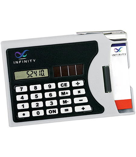 CARD HOLDER WITH CALCULATOR
