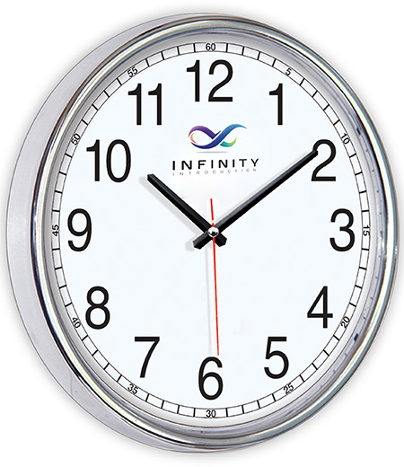 WALL CLOCK (CHROME EXTERIOR)